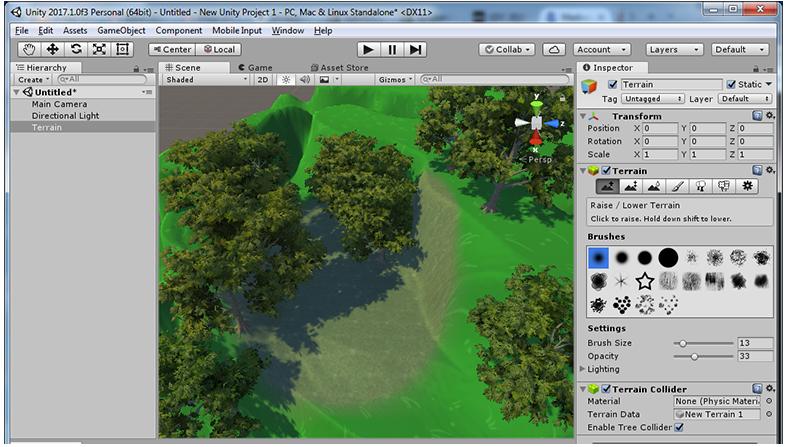 Unity3D Terrain Steps